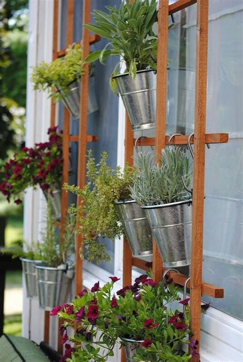 hanging herb garden hanging herb garden 06 gardening pinterest