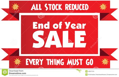 year end report sle end of year sale label or badge isolated on white bac