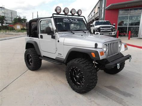 silver jeep lifted find used 2004 jeep wrangler silver 6 cyl rugged ridge 4
