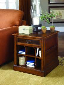 Living Room Tables With Storage Hammary Living Room Rectangular Storage End Table Kd 050 916 Fwdg Beaufort Sc