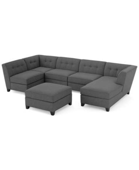 roxanne fabric 6 modular chaise sectional sofa