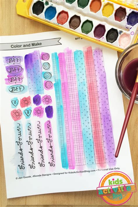 How To Make Bracelets Out Of Paper - color and make bff bracelets printable