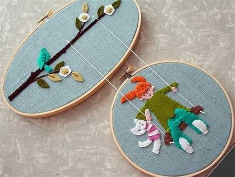 Creative Handmade Crafts - creative ways to make home decorations with embroidery hoops