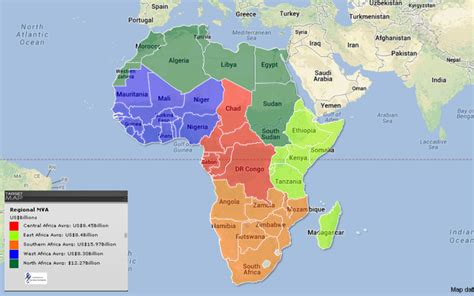 regions of africa map africa regions map