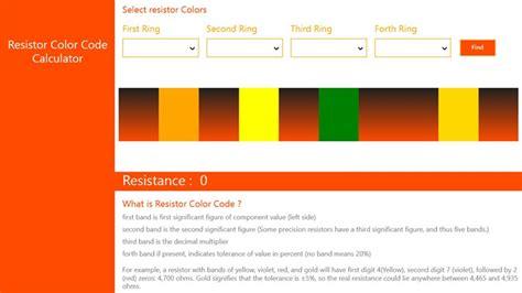 resistor color code web app resistor color code web app 28 images dedalbanking resistor color code app resistor cc on