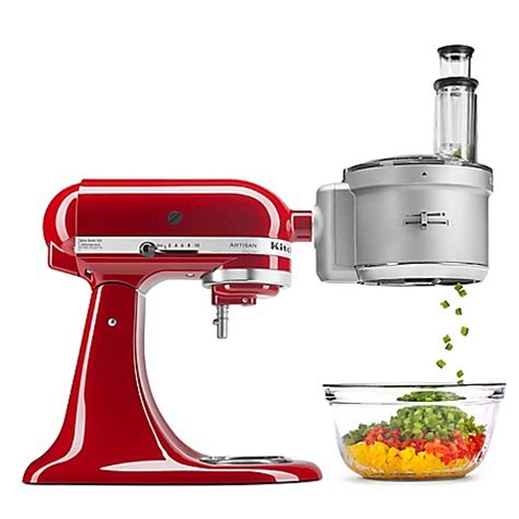 kitchenaid food processor  dicing disc stand mixer attachment  stainless steel bed bath