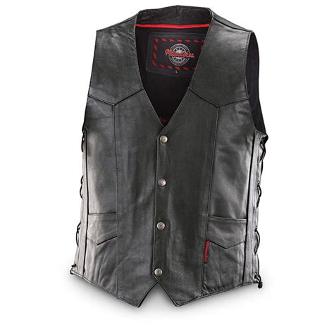 motorbike vest milwaukee motorcycle lace vest with conceal and carry