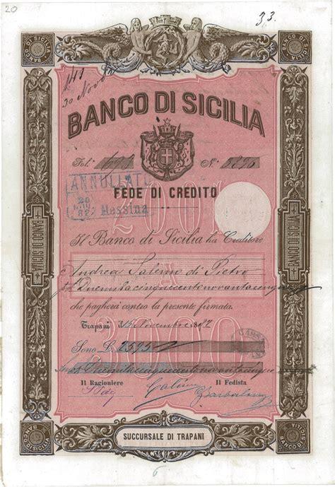 il banco di sicilia banco di sicilia succursale di trapani scripomuseum