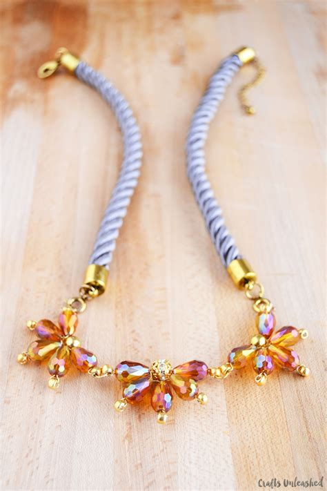 how to make a beaded flower necklace beaded flower necklace tutorial crafts unleashed