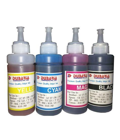 Premium Ink 100ml Cannon dubaria premium quality canon inkjet ink for canon printers 100ml 4 color buy dubaria premium