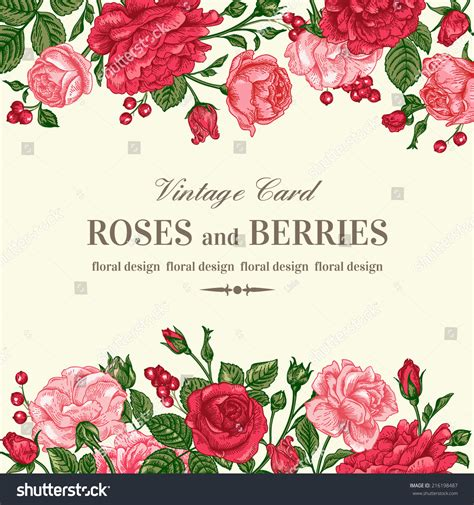 Vector Backgrounds With Roses For Invitations vintage wedding invitation with pink and roses on a