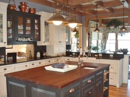 Combined Kitchen And Dining Room barn chandelier lighting for industrial farmhouse kitchen