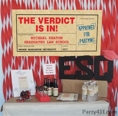themes law school karachi party table ideas for a law school graduation daily