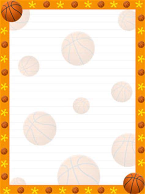 Printable Basketball Stationary | pin printable basketball border paper pictures on pinterest