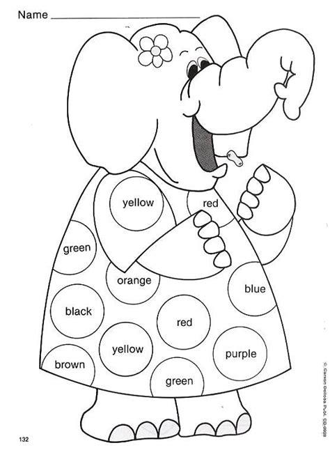 dibujos infantiles ingles fichas infantiles para pintar y aprender los colores en