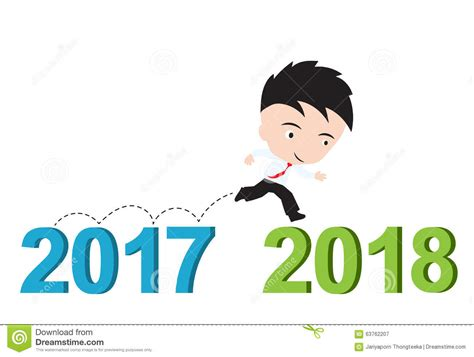 new year 2018 run businessman new career concept royalty free stock