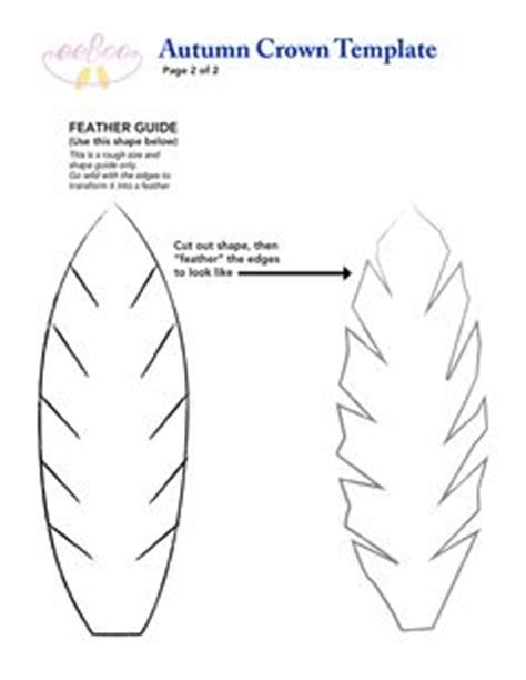 felt feather template for our fantastic eeboo fall crown