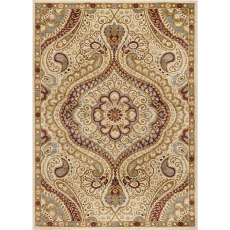9 x 6 area rugs tayse rugs elegance ivory 9 ft 3 in x 12 ft 6 in indoor area rug 5462 ivory 9x13 the home