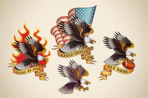 old school eagle tattoo designs american eagles school stencil design golfian
