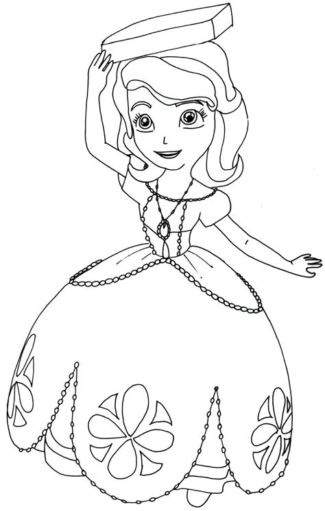 happy birthday sofia coloring pages sofia the first coloring pages perfect posture sofia the