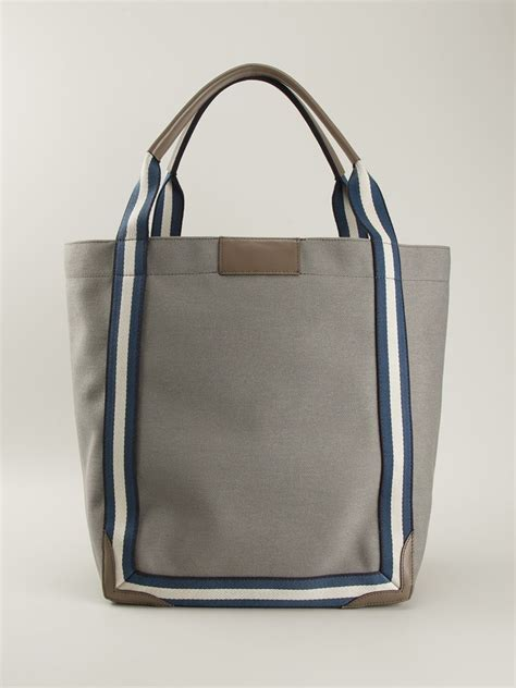 Tote Sneaker Smile lyst anya hindmarch smiley pont tote bag in gray
