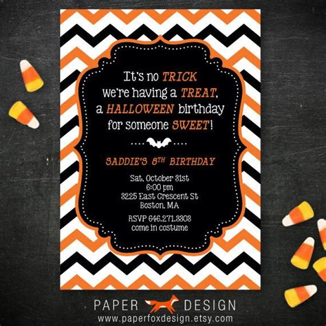 printable halloween themed birthday invitations halloween birthday party invitation diy printable