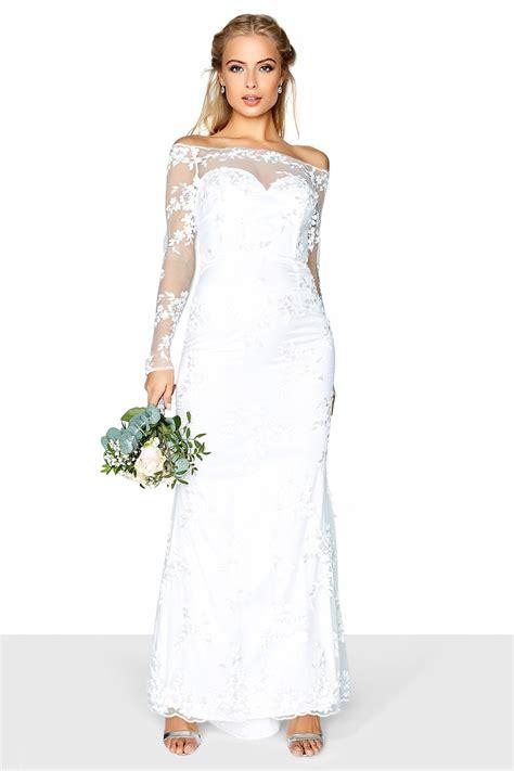 Bardot Lace Wedding Dress by Lace Bardot Bridal Dress From Uk