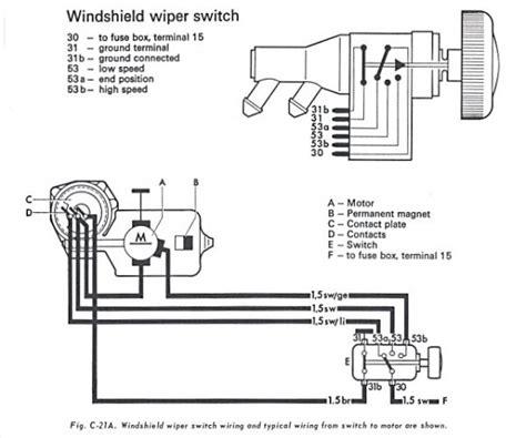 Vw Bug Wiper Motor Wiring Wiring Diagram
