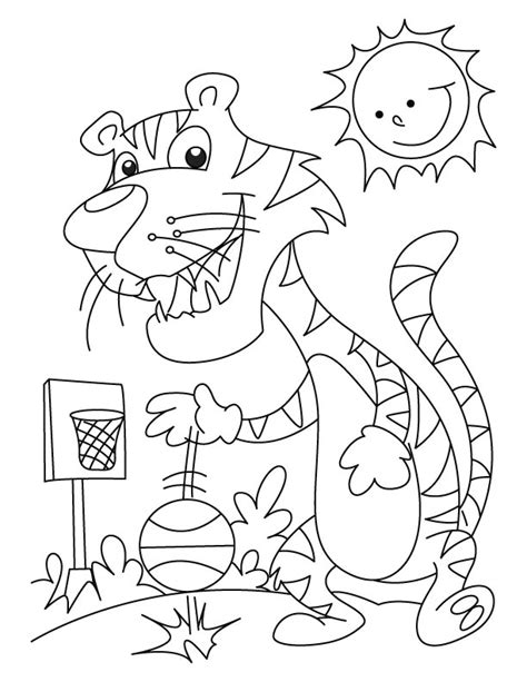basketball practice coloring page 1 download free tiger playing basketball coloring page download free
