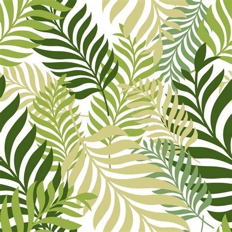 nature pattern vector green palm tree leaves vector seamless pattern nature