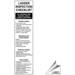ladder inspection template ladder inspection checklist label nhe 16296 industrial notices