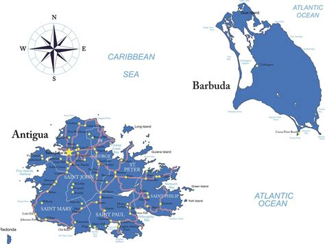 antigua and barbuda map antigua barbuda map thecurrent continental currency