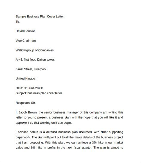 business cover letter   samples examples format