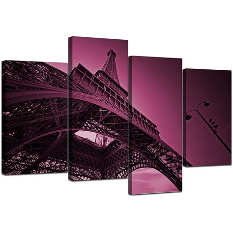 canvas bedroom furniture sets eiffel tower canvas wall art in plum for bedroom