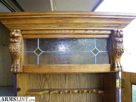 Solid Oak Gun Cabinets For Sale by Armslist For Sale Solid Oak Pulaski 6 Gun Cabinet
