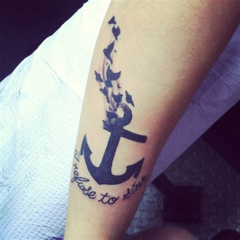 i refuse to sink anchor tattoo 44 i refuse to sink anchor tattoos