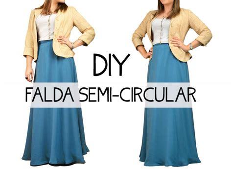 como combinar una falda larga falda semi circular diy youtube