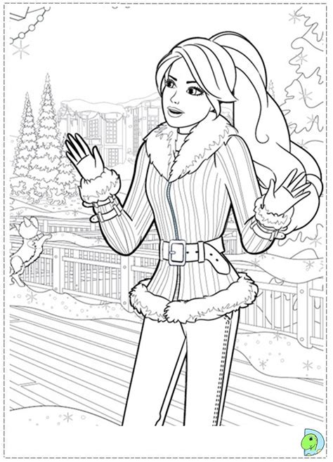 barbie christmas coloring pages to print barbie in a perfect christmas coloring page dinokids org
