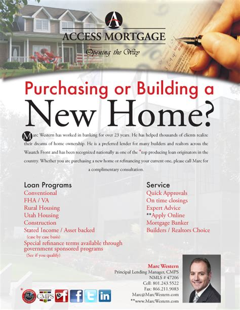 Michelle S Portfolio Lemonadestandgraphix Access Mortgage Parade Of Homes Flyer Mortgage Flyer Templates