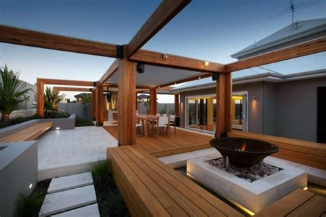 Rooftop Garden Ideas Terrace With Teak Wood Flooring Modern Solution For Any