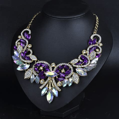large for jewelry flower necklaces pendants large statement