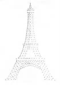 eiffel tower drawing outline