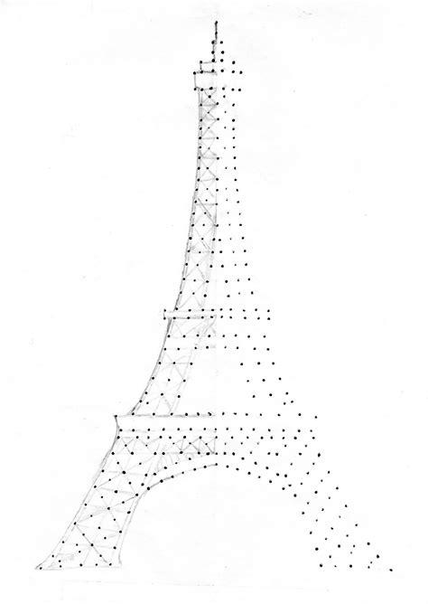 paris pattern works eiffel tower drawing outline