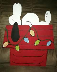 snoopy door decor door decor brown decor