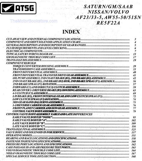 book repair manual 2011 volvo xc70 transmission control aw55 50 51sn af23 33 5 re5f22a transmission rebuild manual