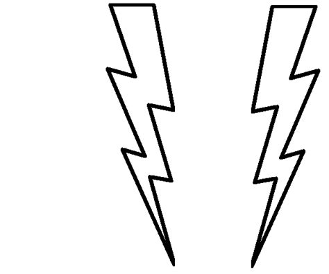 lightning bolt template printable lightning bolt cliparts co