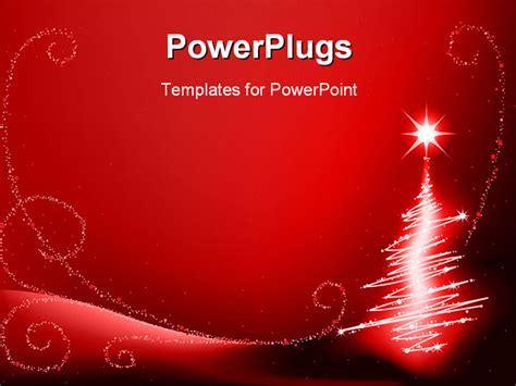 best powerpoint template abstract christmas tree