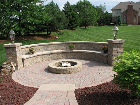 Inspiration For Backyard Fire Pit Designs Round Fire Pit Patio Ideas With Firepit