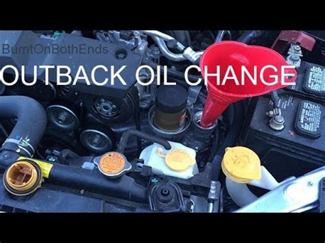 outback oil change youtube