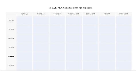 Printable Meal Planning Templates To Simplify Your Life Weekly Meal Planner Template With Snacks